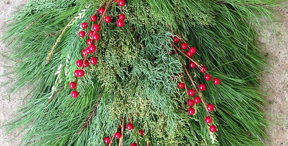 Pine Mix Holiday Door Swag