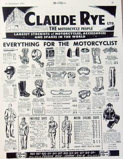 Claude Rye Stockist 1957