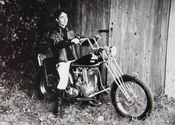 Nigel & award winning Chopper 1978