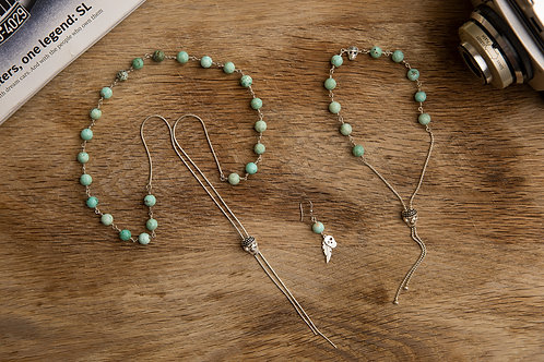 Genuine turquoise, sterling silver