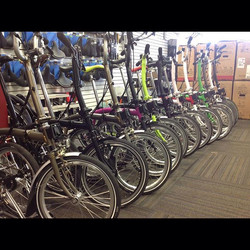 Brompton demos are here!_Come in for a test ride tomorrow from 12-6