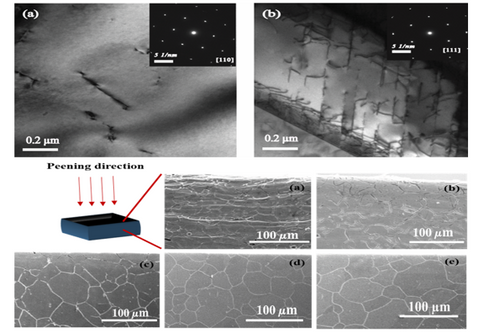 Laser shock peening of austenitic stainless steels for better fatigue performance