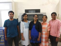 B.Tech Interns 2020 (Names left to right): Shiva teja, Pranavi, Navya, Chandra Jyothi, Keerthi Reddy