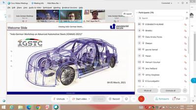 INDO-GERMAN WORKSHOP ON ADVANCED AUTOMOTIVE STEELS (IGWAAS-2021)
