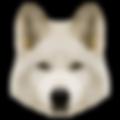 Geometric White Dog