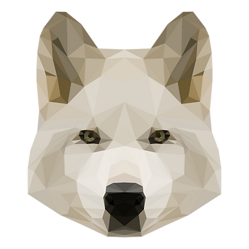Geometrische White Dog