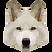 Perro geométrico blanco