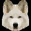 Геометрическая Белая собака