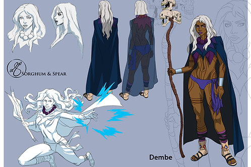 """Character Design - DEMBE"" 11 x 17 Art Print"