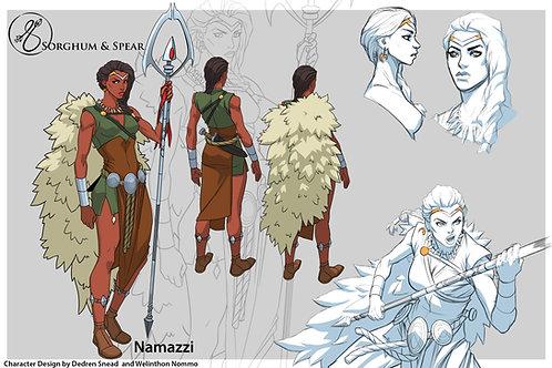 """Character Design - NAMAZZI"" 11 x 17 Art Print"