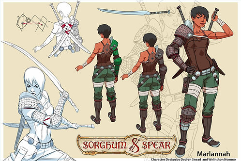 """Character Design - MARLANNAH"" 11 x 17 Art Print"