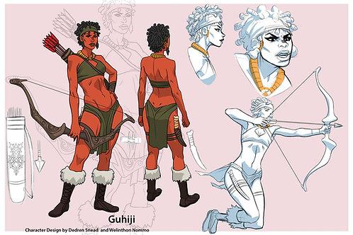 """Character Design - GUHIJI"" 11 x 17 Art Print"