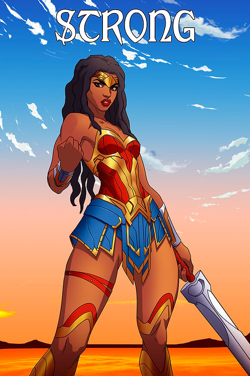 """Sister Strength - NUBIA"" 11 X 17 Art Print"