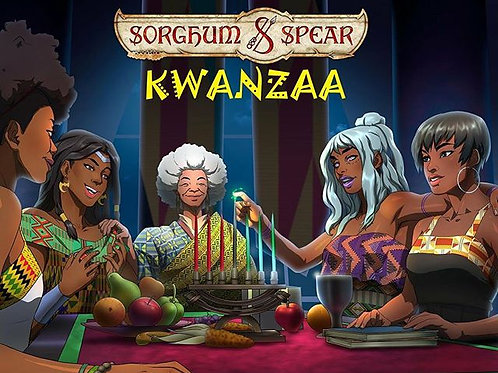 """Sorghum & Spear Kwanzaa Celebration"" 11 x 17 Art Print"