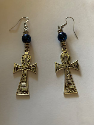 Ankh Pierced Earrings