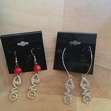 Delta Sigma Theta Silvertone Symbol Earrings