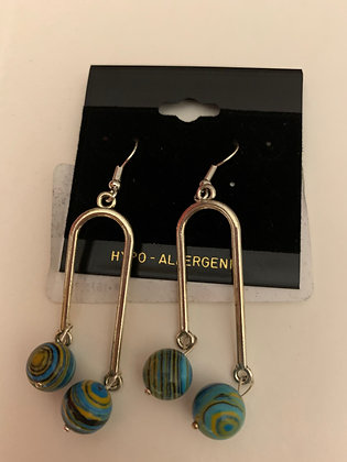 Swirl Pendulum Earrings