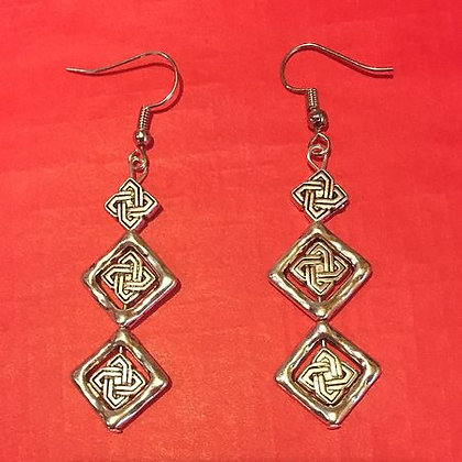 Silver Openbox Dangle Pierced Earrings #2