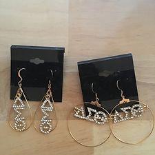 Delta Sigma Theta Goldtone Symbol Earrings
