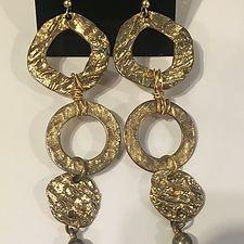 Brass Pierced Dangle Earrings