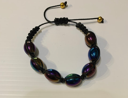 Shambella Bracelet with Irisdescent Beads