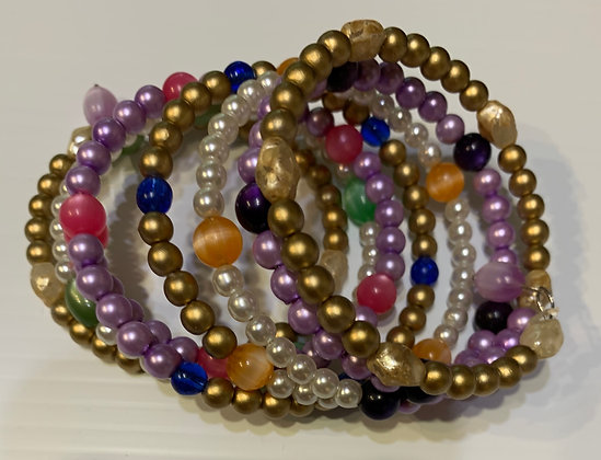 7 Wrapped Bracelet --Varied colors