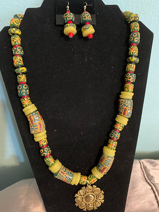 Afrocentric Beaded Necklace Set #8