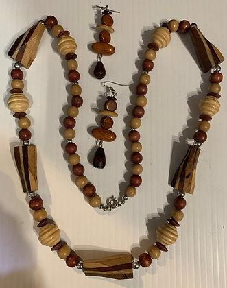 Wood Necklace Set