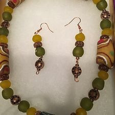 Afrocentric Beaded Necklace Set #9