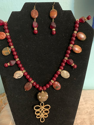 Picasso Jasper Necklace Set