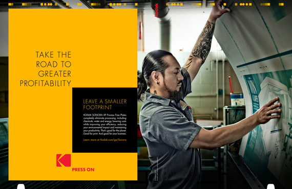 Press On sustainability ad