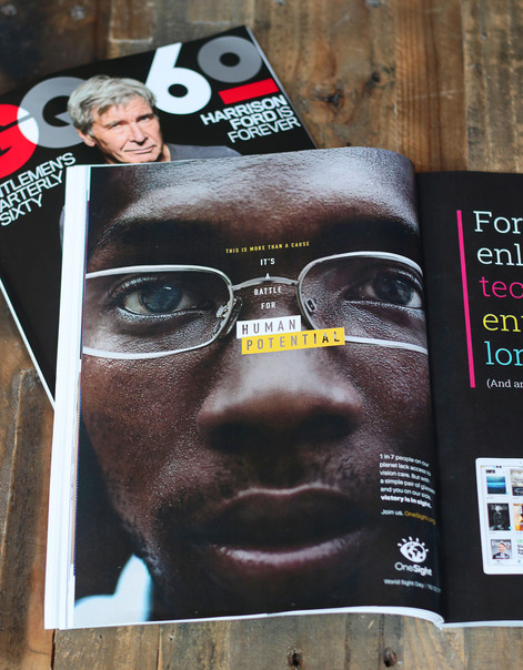 Print advertising: GQ