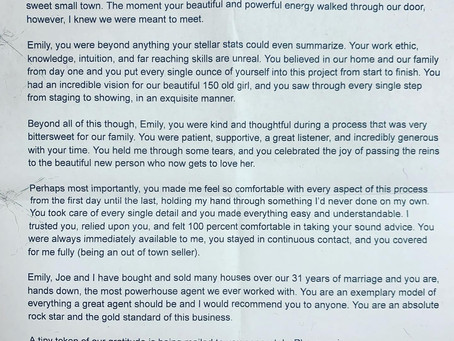 A touching note from a dear seller... Heart is full.