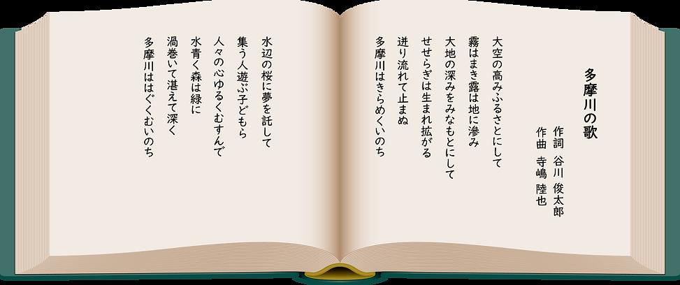 多摩川の歌 歌詞