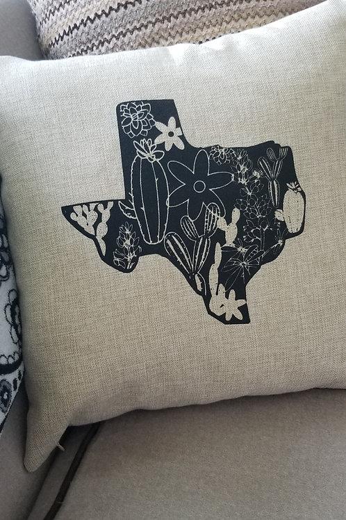 Texas Flower Pillow Case