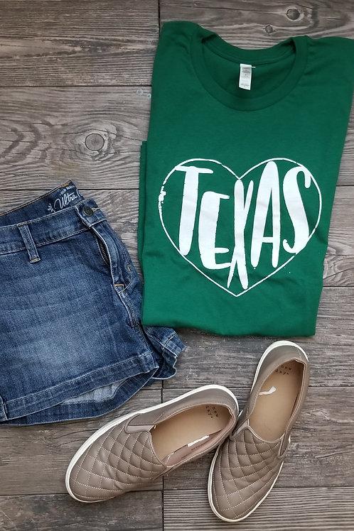 Texas Heart {Green}