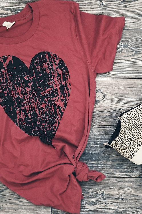 Vintage Heart {Rust}