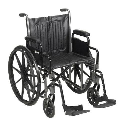 McKesson Manual Wheelchair w/ Detachable Padded Desk Arm
