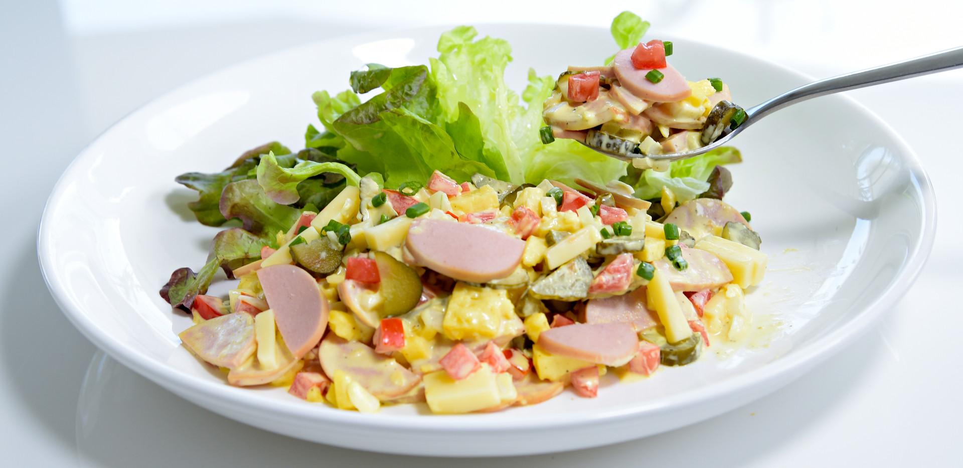 wurst käse salad