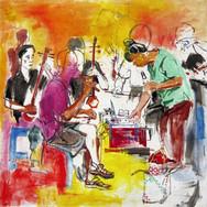 Small street concert