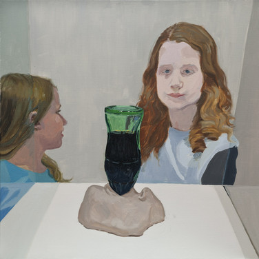 Two girls at the MoMA