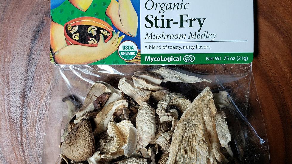 Stir-Fry Dried Mushroom Medley