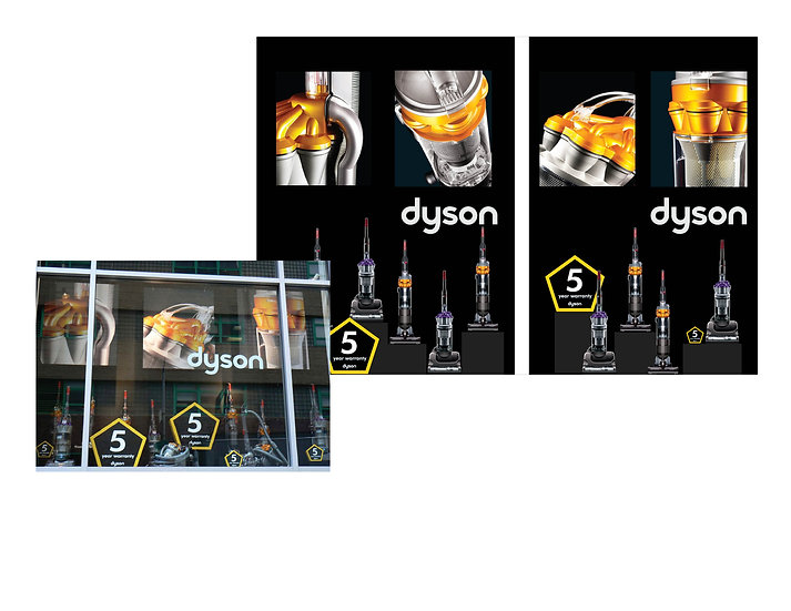 Dyson windown display at Bed Bath & Beyond