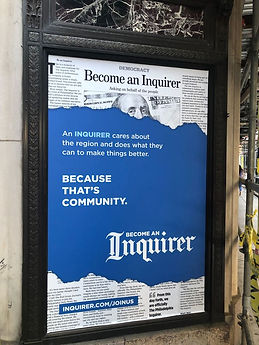 Become An Inquirer. Because that's communty.