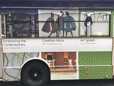 Philadelphia Museum of Art Bus advertising