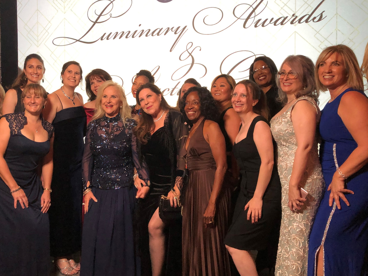 Larraine Segil with some of the EWA LSS Network Receiving The Luminary Award for VOICES THAT CHANGE THE WORLD from C200