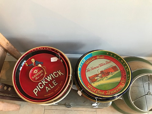 Vintage Beer Trays from 1920's-1980's