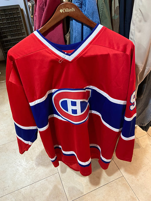 Canadiens autographed jersey signed by Patrick Roy and John Leclair withJSA Cert