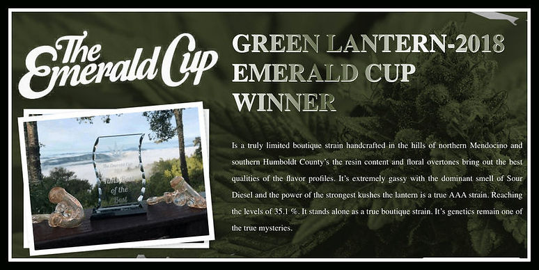 Grean Lantern- Emerald Cup Winner - 2018