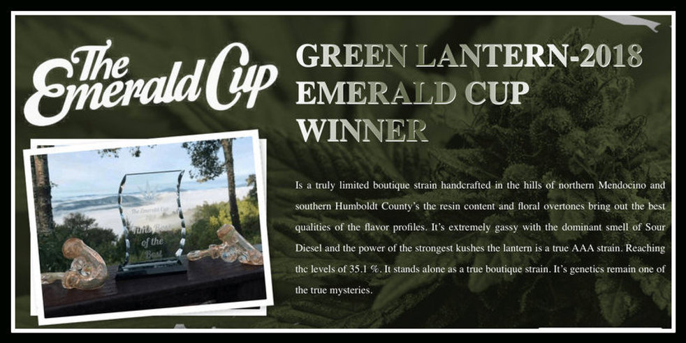 Grean Lantern- Emerald Cup Winner - 2018